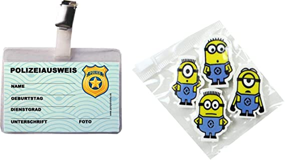 10 x Ausweis Polizei mit Clip und Hülle