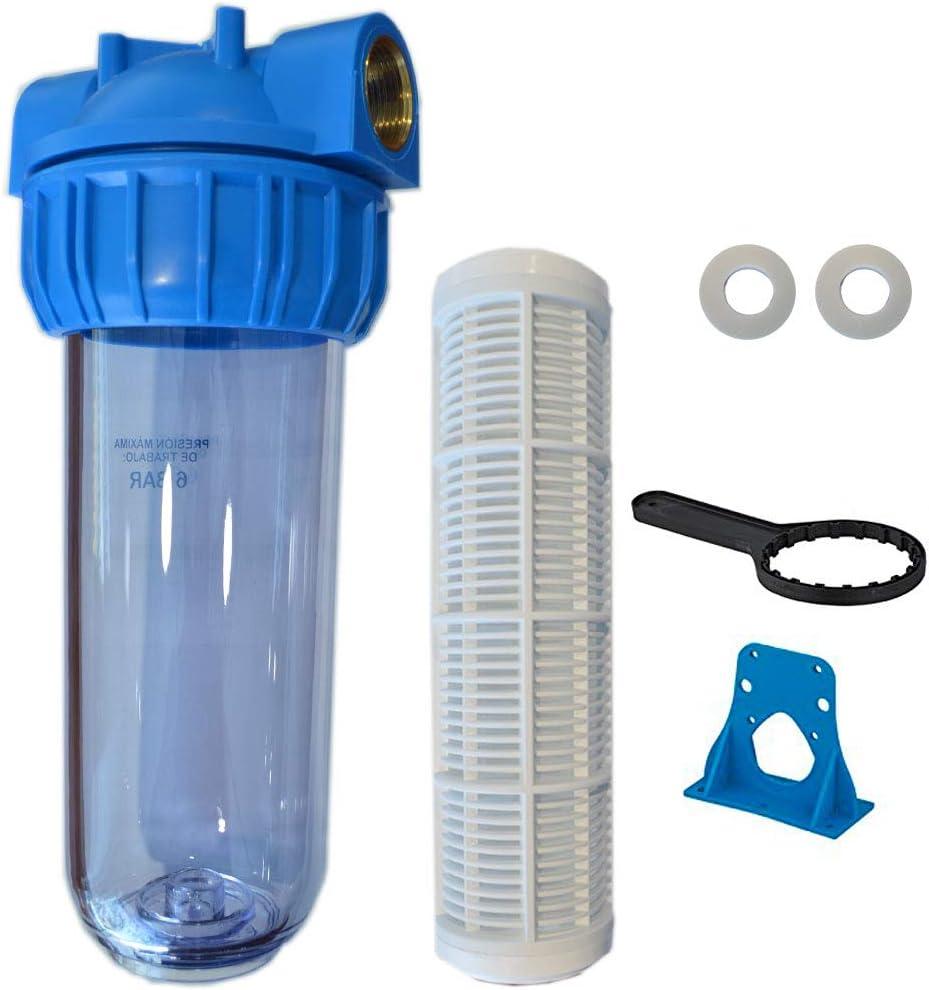 RC - Filtro Agua Portacartuchos, Filtro Malla Lavable, Vaso Contenedor 1