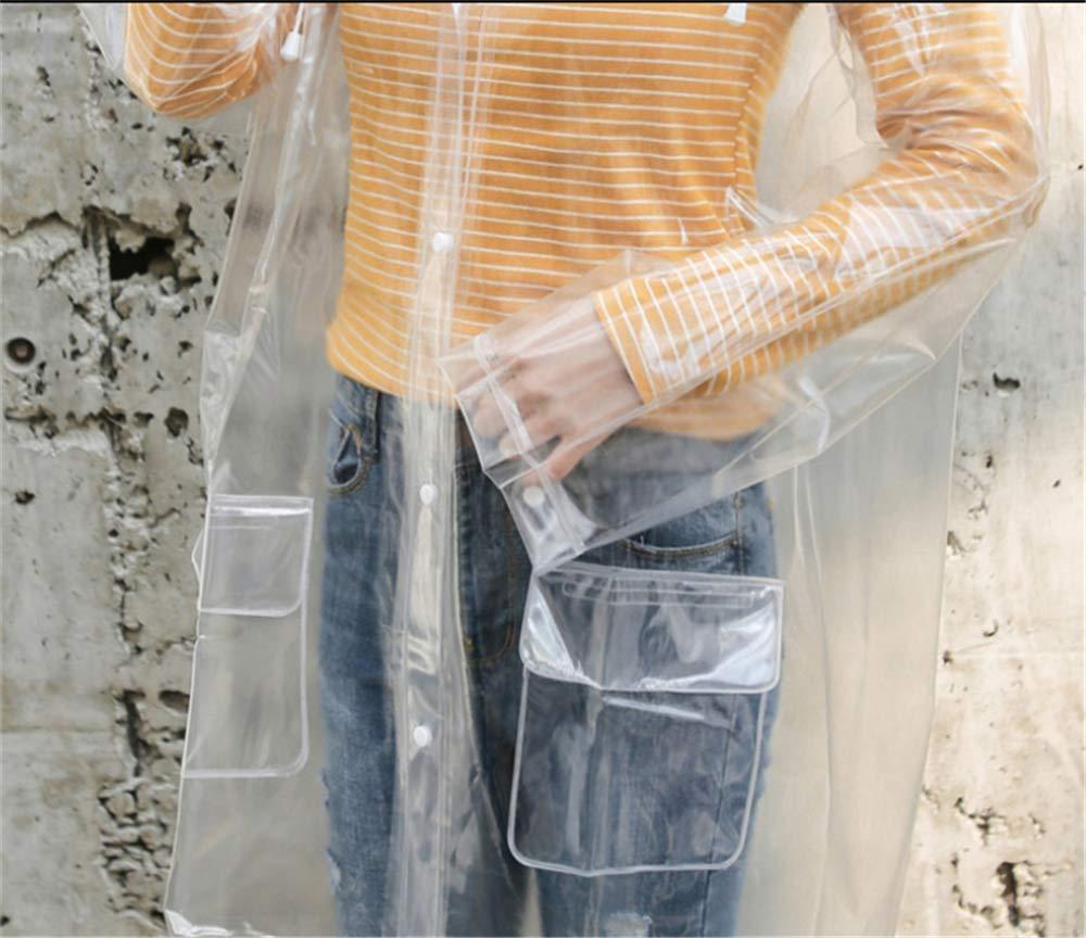 Sviqskr Chubasqueros Ropa De Mujer Impermeable Moda Transparente Senderismo Lluvia Poncho Impermeable Todo El Cuerpo /Único No Desechable