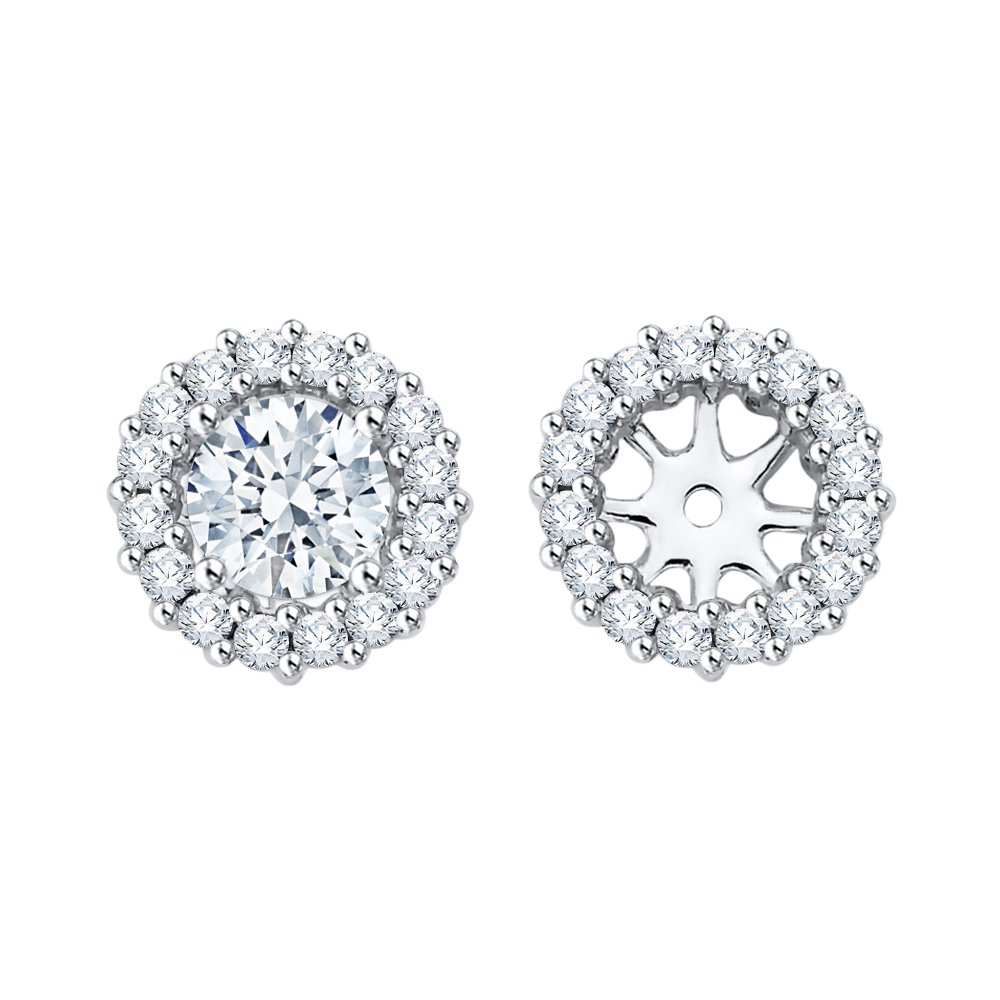 Diamond Earring Jackets in 14K White Gold (1/2 cttw) (Color GH, Clarity I2-I3)