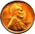 1924 P Lincoln Cents Cent MS67 PCGS RD