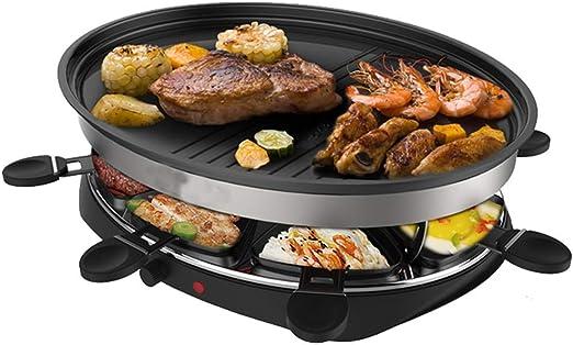 Parrilla eléctrica Raclettes Grill Mesa profesional de mesa para 8 ...