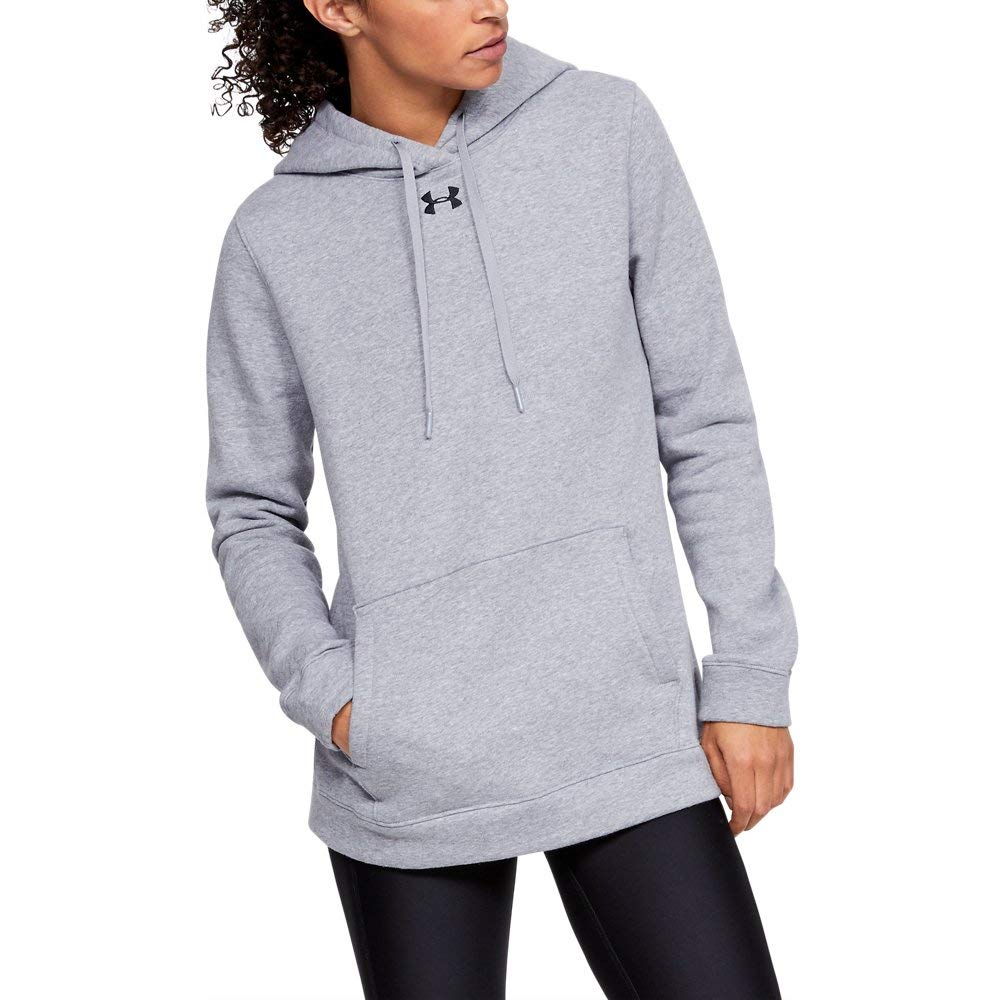 Under Armour Women's UA Rival Hoodie XXL True Gray Heather by Under Armour