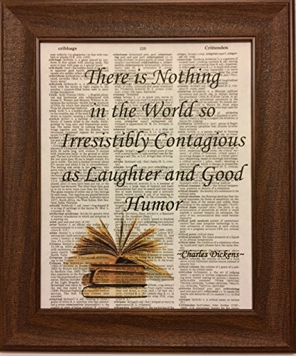 Charles Dickens Encyclopedia Book Page Artwork Print Picture Poster Home Office Bedroom Nursery Kitchen Wall Decor - unframed
