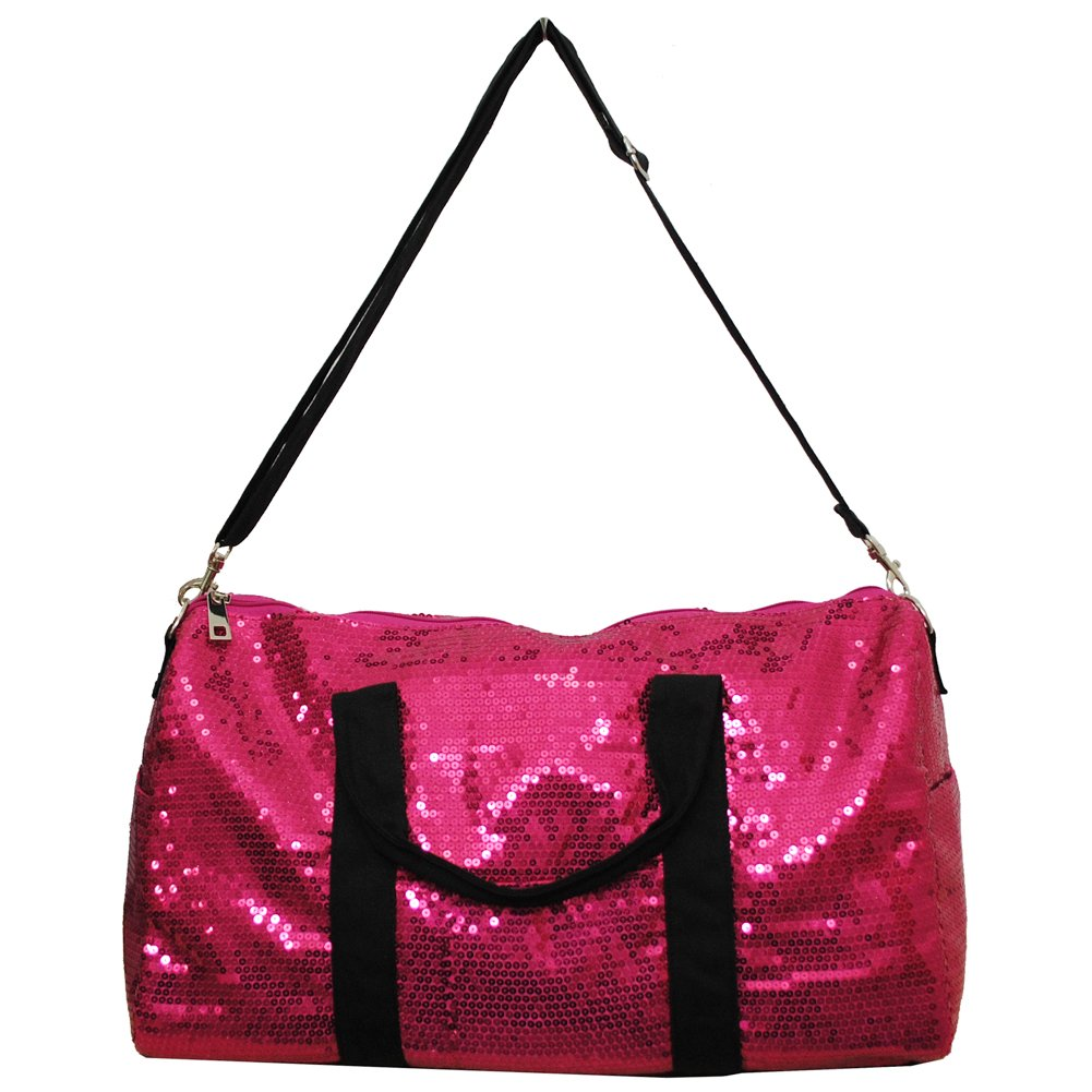 Adorable Sequin Large Duffle Bag (HOT PINK)