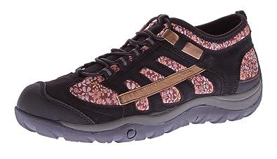Sun Shadow Damen Sport Schuh Blumen Muster Halbschuhe Sneakers Gummizug  Slipper Schwarz Gr. 39 9d1e3419af