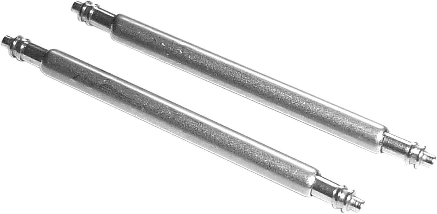 1PAAR 43mm QUALIT/ÄTS FEDERSTEGE F/ÜR UHRENARMB/ÄNDER 1,5mm DURCHMESSER