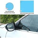 OFNMY Car Rearview Mirror Protective Film Anti-Fog Anti-Glare Anti-Scratch waterproof film (Side Mirror Oval Shape+ Car Door Window)