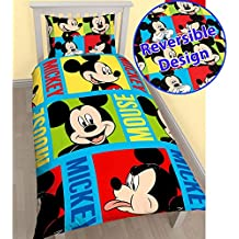 Mickey Mouse Bright Single/US Twin Duvet Cover and Pillowcase Set