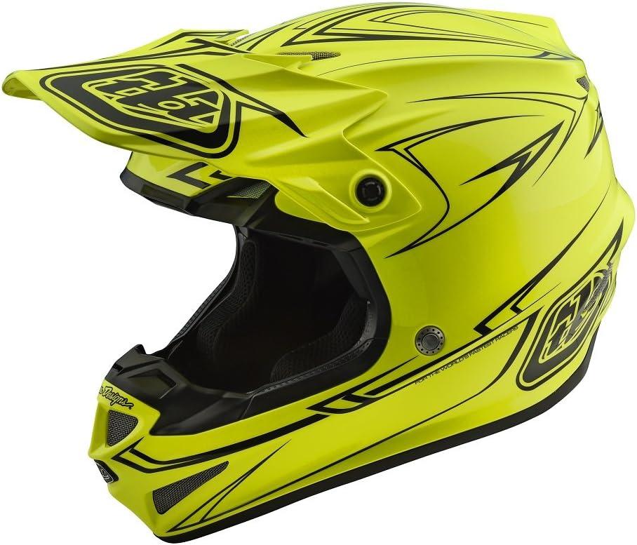 2018 Troy Lee Designs SE4 Polyacrylite Pinstripe Helmet-Yellow-S 109018502