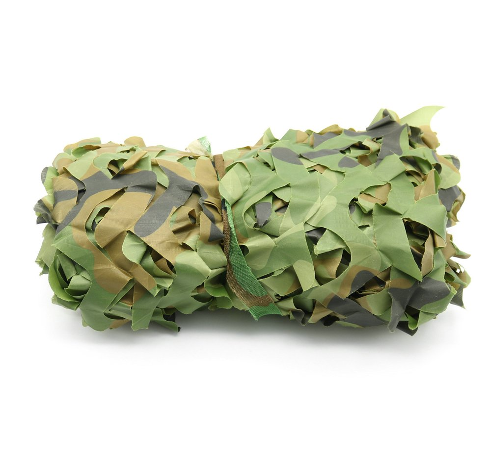 Filet de camouflage militaire avec feuilles de camouflage pour camping et chasse 2 x 3/m