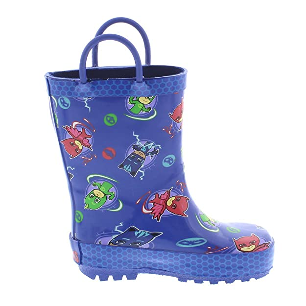 Amazon.com | PJ Masks Boys and Girls Rain Boots (9-10 M US Toddler, Blue) | Boots