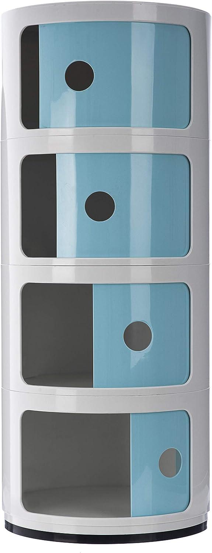 Bianco 2 Tier Comodino con 2 3 4 5 cassetti colore Costello/®