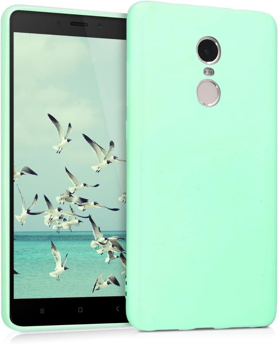 kwmobile Funda Compatible con Xiaomi Redmi Note 4 / Note 4X - Carcasa de TPU Silicona - Protector Trasero en Menta Mate