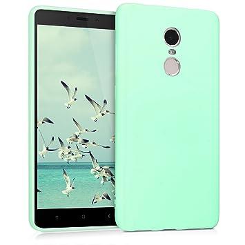 kwmobile Funda para Xiaomi Redmi Note 4 / Note 4X - Carcasa para móvil en TPU Silicona - Protector Trasero en Menta Mate