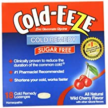 Cold-Eeze Sugar Free Lozenges with Zinc Gluconate Glycine, Wild Cherry 18 ea