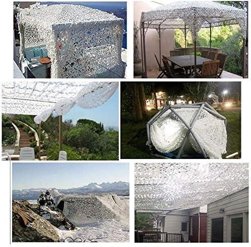Red de Camuflaje Protector Solar para Jardín 4 * 5m, Protector Solar, Camuflaje Blanco, Toldo, Red de Balcón Terraza Protección Privacidad Cubierta Cubierta Decoración de Jardín