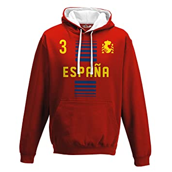 KiarenzaFD Sudadera con Capucha Bicolore Hombre Nacional Deporte Espana Spain 3 Futbol Scudo 1 Streetwear: Amazon.es: Deportes y aire libre