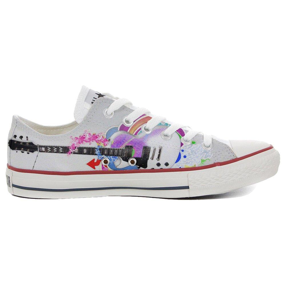 Converse Personalizzate all Star (Scarpe Personalizzate Artigianali) scarpe da ginnastica, Unisex-Adulto Slim Guitar Style