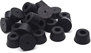Antrader Rubber Feet 24 Pack Black Color Bumpers Pads,Tapered with Washers, 1