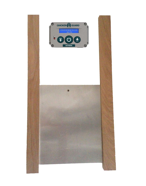 ChickenGuard Extreme Automatic Chicken Coop Pop Door Opener & Door Kit Combo