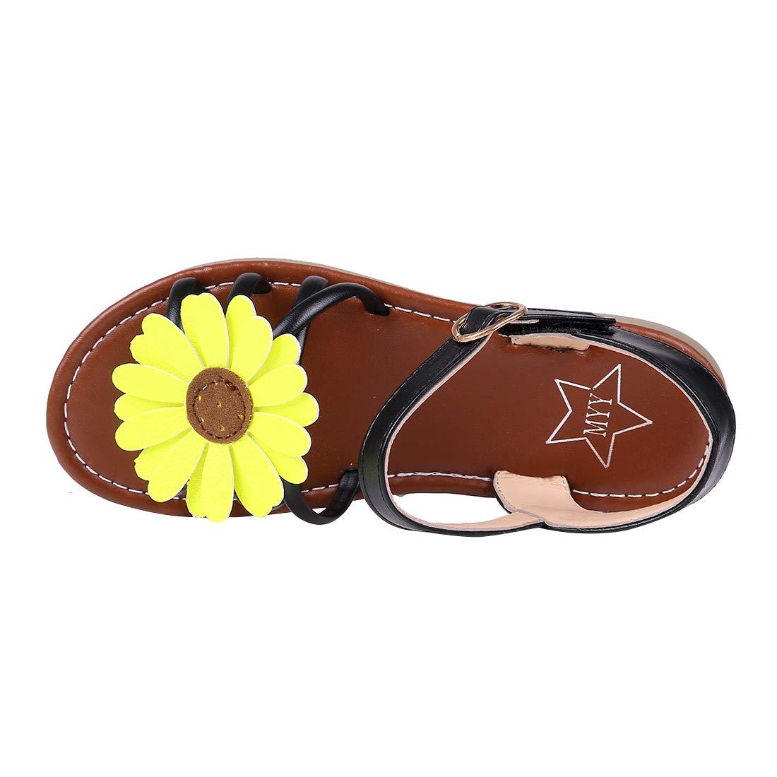 Toddler//Little Kid//Big Kid Litfun Kids Girls Cute Flower Open Toe Flat Strap Summer Sandals