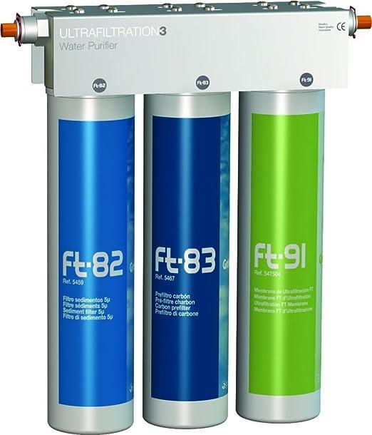 FT de Line 3. Sistema de filtro de agua Carbón Activo con UF de filtración. Sin grifo Incluye anschlus Set: Amazon.es: Hogar