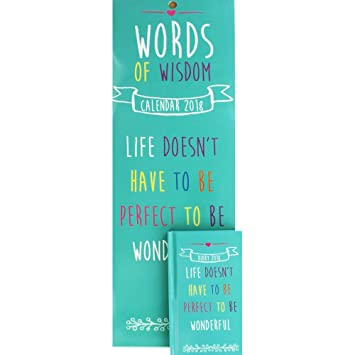 Words Of Wisdom Calendar 2018
