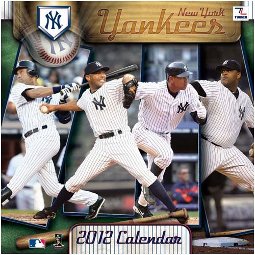 New York Yankees 2012 Wall Calendar 12