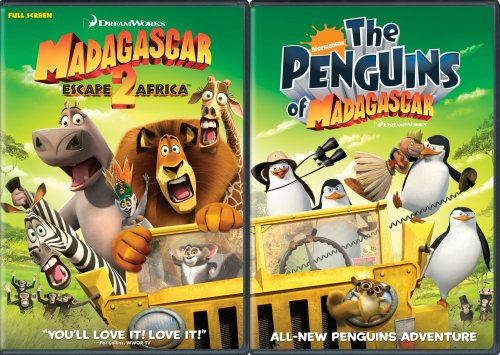 Madagascar: Escape 2 Africa/Nick Penguins  (Double DVD Pack)  (Full Screen) by Dreamworks Animated