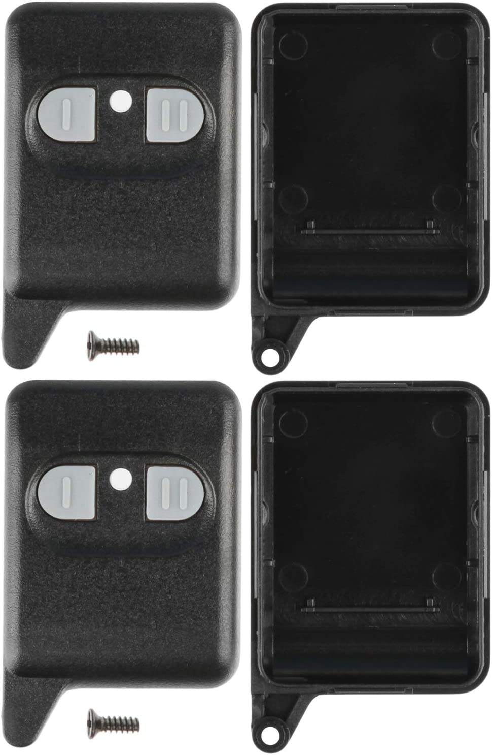 KeylessOption Keyless Entry Remote Fob Aftermarket Alarm Shell Case Cover For Viper Hornet Valet EZSDEI471 (Pack of 2)