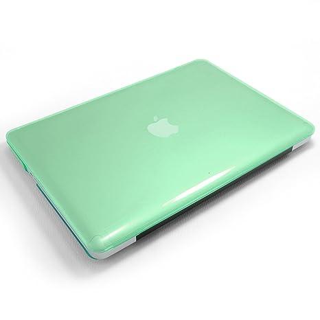 Incutex funda para ordenador portátil para Apple MacBook, rígida verde translúcido