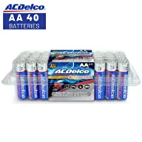 40CT ACDelco AA Super Alkaline Batteries In Recloseable Package