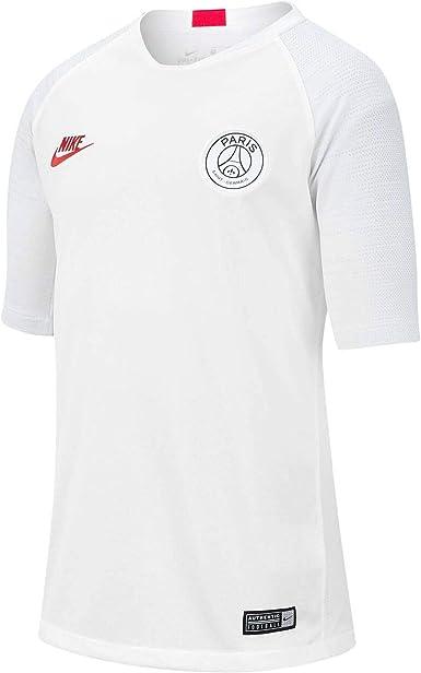 Amazon Com Nike 2019 2020 Psg Strike Training Football Soccer T Shirt Jersey White Kids Clothing