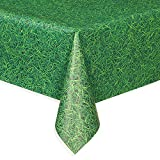 Green Grass Plastic Tablecloth, 108' x 54'