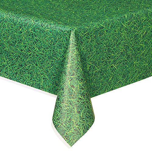 Green Grass Plastic Tablecloth, 108