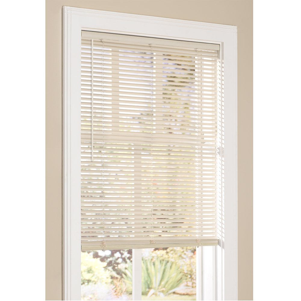 "Lumino Inc. Vinyl Mini Blinds 1 Inch Cordless Room Darkening in Alabaster - 30"" W x 72"" H (Over 250 Add"