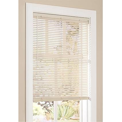 1 inch vinyl mini blinds walmart vinyl mini blinds inch cordless room darkening in alabaster 18quotw 60quot amazoncom