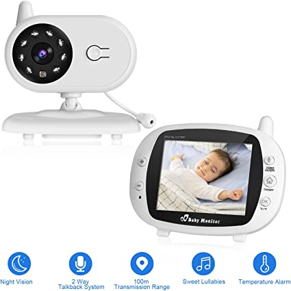"""2.4/"""" numérique sans fil bébé moniteur 2-Way Parler Vision Nocturne Vidéo Audio Caméra"""
