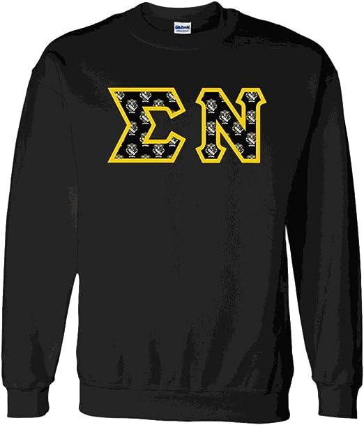 Phi Kappa Sigma Fraternity Crest Twill Letter Hooded Sweatshirt