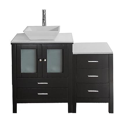 Virtu Usa Brentford 46 Inch Single Sink Bathroom Vanity Set