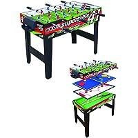 Sport One WAC Calcetto calcio balilla biliardino supertavoli 4 in 1 ping pong hockey biliardo giochi da tavolo