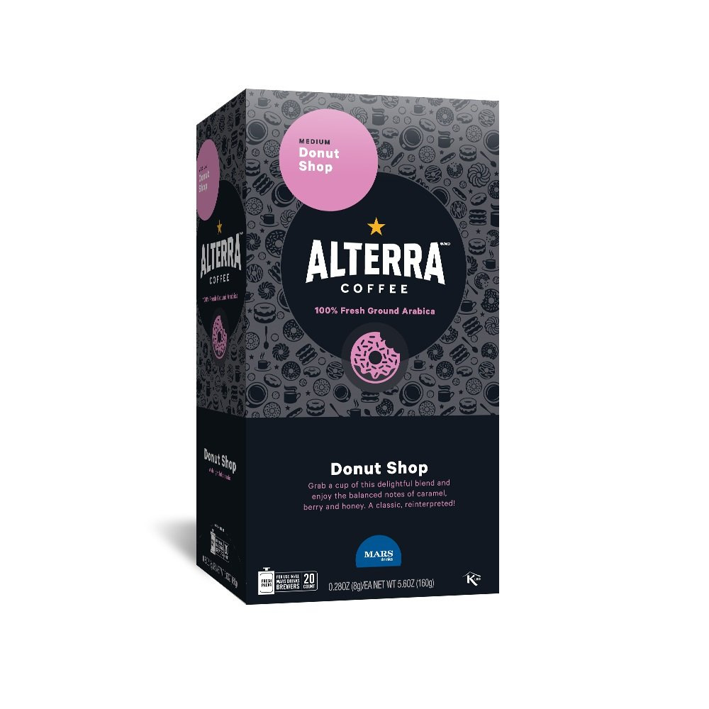 Amazon.com : ALTERRA Coffee Donut Shop Blend Single Serve Freshpacks for MARS DRINKS FLAVIA Brewer, 20 Packets : Grocery & Gourmet Food