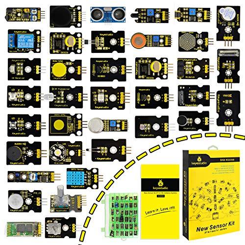 KEYESTUDIO 37 Sensor Kit with Great LEDs, Buzzer, Button Sensor, Relay etc. Great Set of Sensor for Ardiuno and Raspberry PI