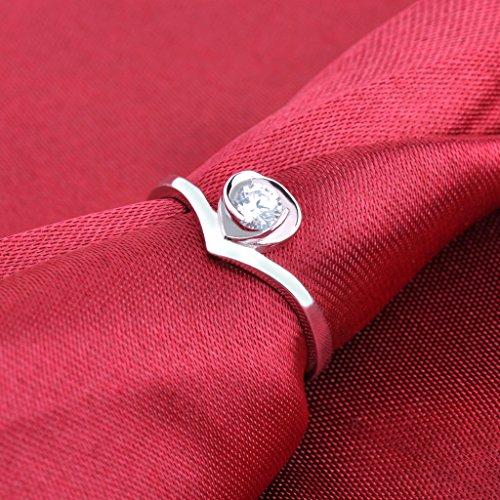 Infinite U Fashion 925 Argent Femme Homme Réglable Couples/Amoureux Bagues cadeau d'anniversaire/Promesse/Noël/Nouveau An/saint-valentin/mariage/fiançailles