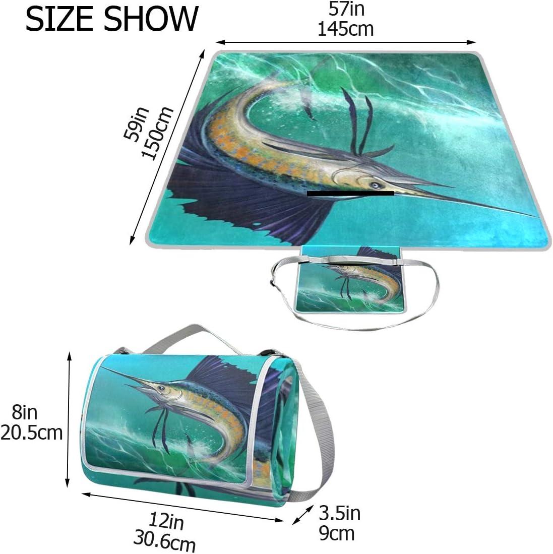 XINGAKA Coperta da Picnic Tappetino Campeggio,Progettazione di Schizzo di Giallo di Ricreazione Veloce di Sport del Ciclista del Ciclista Geometrico Astratto Blu di Ciclismo 1