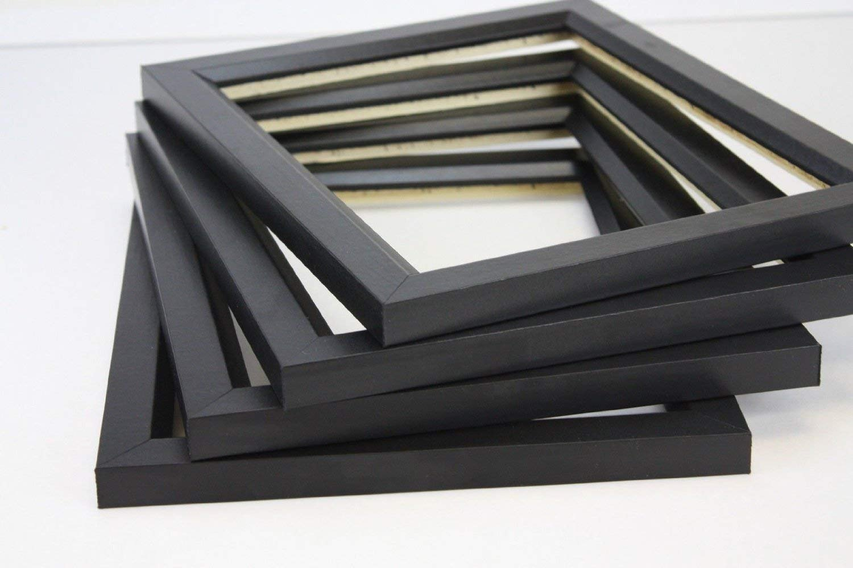 US Art Frames 12x18 Black Solid wood .84 inch (Poplar) Picture/Poster frame - SET OF 4