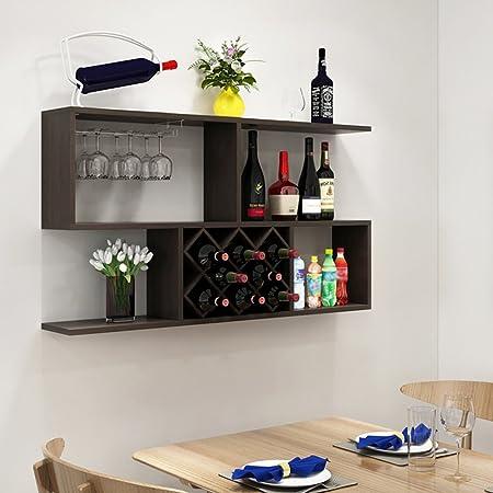Moderno Portabottiglie Vino Da Parete Design.Feifei Portabottiglie In Legno Da Parete Portabottiglie Da Vino