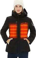 [2020 Upgrade] Women's Heated Jacket with Battery Pack 5V, Heated Coat