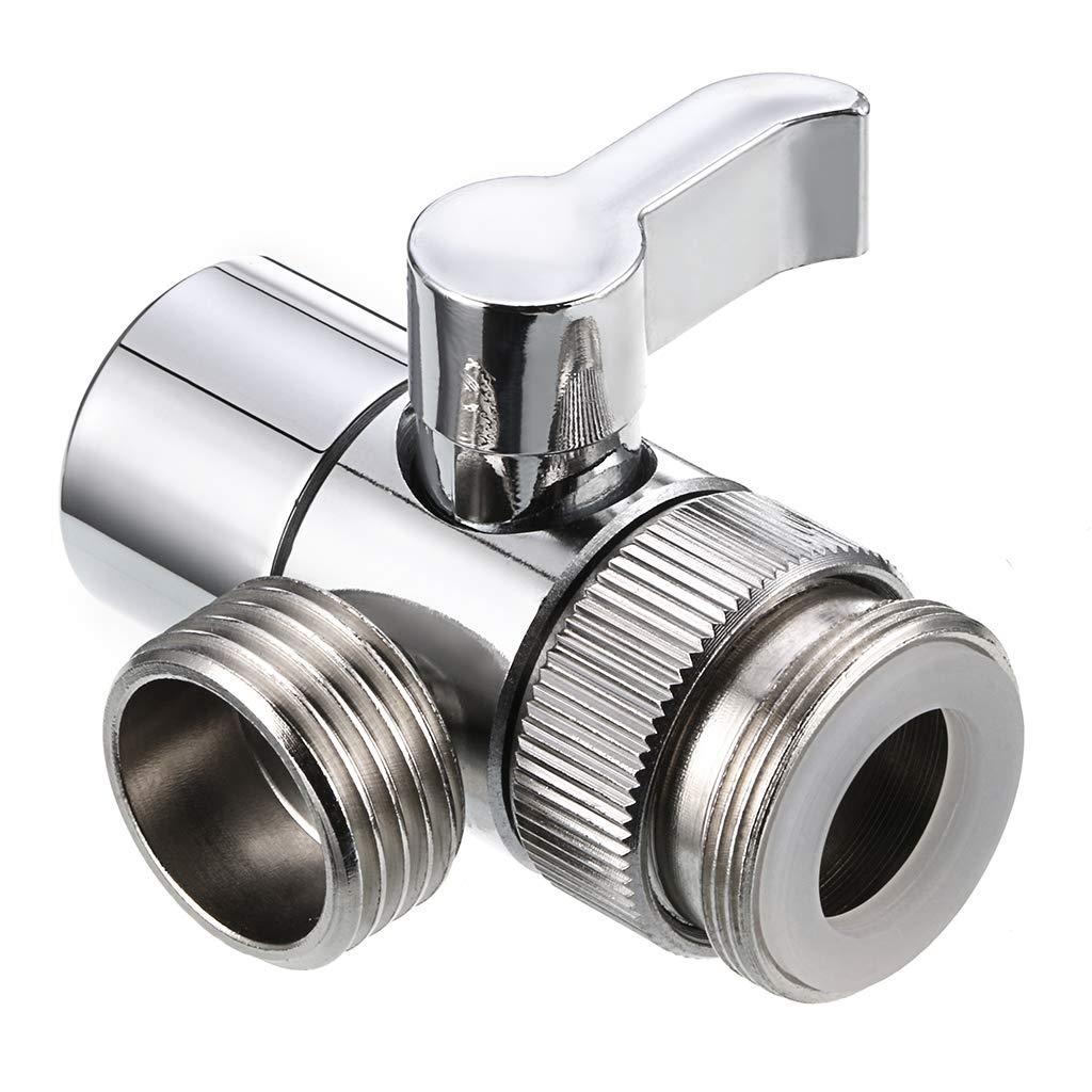 Sumnacon Sink Valve Diverter Faucet Splitter,1/2-Inch IPS Faucet Diverter Valves for Kitchen Bathroom Sink Faucet Replacement Part,Faucet Connector for Hose Adapter, Polished Chrome